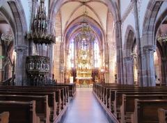 Eglise catholique -  Alsace, Bas-Rhin, Still, Église Saint-Mathias (PA00085010, IA67011366): Vue intérieure de la nef vers le chœur.