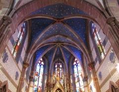 Eglise catholique -  Alsace, Bas-Rhin, Still, Église Saint-Mathias (PA00085010, IA67011366): Voûtes néo-gothiques du chœur.