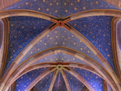 Eglise catholique -  Alsace, Bas-Rhin, Still, Église Saint-Mathias (PA00085010, IA67011366): Voûtes et décor du chœur (XIXe).
