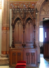 Eglise catholique - This object is indexed in the base Palissy, database of the French furniture patrimony of the French ministry of culture,under the referenceIM67016680.