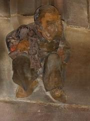 Cathédrale Notre-Dame - Alsace, Bas-Rhin, Cathédrale Notre-Dame de Strasbourg (PA00085015). Statue représentant l'architecte Gustave Klotz, Vestibule néo-gothique de l'éntrée nord