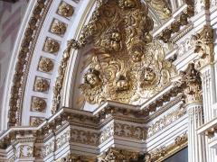 Cathédrale Notre-Dame - Alsace, Bas-Rhin, Cathédrale Notre-Dame de Strasbourg (PA00085015). Chapelle Saint-Laurent: Partie supérieure de l'autel baroque (1698)