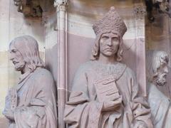 Cathédrale Notre-Dame - Alsace, Bas-Rhin, Cathédrale Notre-Dame de Strasbourg (PA00085015). Chapelle Saint-Laurent: Statues d'hommes d'église