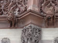 Cathédrale Notre-Dame - Alsace, Bas-Rhin, Cathédrale Notre-Dame de Strasbourg (PA00085015). Gargouilles du bas-côté sud