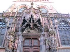 Cathédrale Notre-Dame - Alsace, Bas-Rhin, Cathédrale Notre-Dame de Strasbourg (PA00085015). Façade nord, Portail Saint-Laurent (XVe-XVIe)