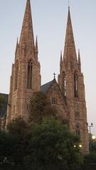 Eglise réformée Saint-Paul - Vue de la façade principale de l'Église Saint-Paul de Strasbourg après restauration, en septembre 2012.
