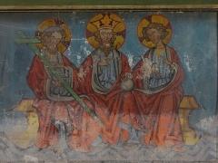 Eglise protestante Saint-Pierre-le-Jeune - Alsace, Bas-Rhin, Église protestante Saint-Pierre-le-Jeune de Strasbourg (PA00085030). Fresques néo-gothiques de la nef (XIXe), Autel transept nord,