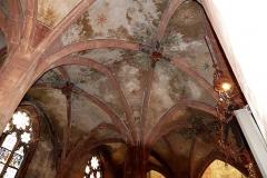 Eglise protestante Saint-Pierre-le-Jeune - Alsace, Bas-Rhin, Église protestante Saint-Pierre-le-Jeune de Strasbourg (PA00085030). Voûtes gothiques du bas-côté sud.
