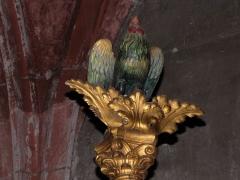 Eglise protestante Saint-Pierre-le-Jeune - Alsace, Bas-Rhin, Église protestante Saint-Pierre-le-Jeune de Strasbourg (PA00085030). Le coq de Pierre