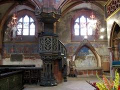 Eglise protestante Saint-Pierre-le-Jeune - Alsace, Bas-Rhin, Église protestante Saint-Pierre-le-Jeune de Strasbourg (PA00085030). Chaire pastorale de la nef (XIXe)