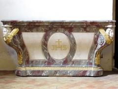 Eglise protestante Saint-Pierre-le-Jeune - Alsace, Bas-Rhin, Église protestante Saint-Pierre-le-Jeune de Strasbourg (PA00085030). Chapelle St-Nicolas: Ancien autel protestant (XVIIIe)