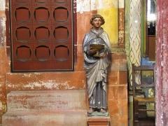 Eglise protestante Saint-Pierre-le-Jeune - Alsace, Bas-Rhin, Église protestante Saint-Pierre-le-Jeune de Strasbourg (PA00085030). Moine-lavabo (piscina) (Moyen-âge?)