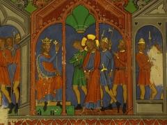 Eglise protestante Saint-Pierre-le-Jeune - Alsace, Bas-Rhin, Église protestante Saint-Pierre-le-Jeune de Strasbourg (PA00085030). Fresques néo-gothiques de la nef (XIXe):