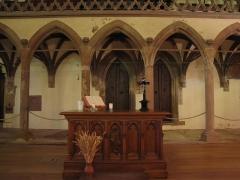 Eglise protestante Saint-Pierre-le-Vieux - Alsace, Bas-Rhin, Église protestante Saint-Pierre-le-Vieux de Strasbourg (PA00085031). Autel et jubé gothique.