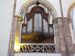 Eglise Saint-Thomas - Alsace, Bas-Rhin, Église protestante Saint-Thomas de Strasbourg, 4 rue Martin-Luther  (PA00085032). Orgue de choeur Dalstein-Haerpfer-Blumenroeder (1905)