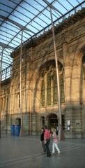 Gare ferroviaire centrale - Français:   Gare SNCF (Strasbourg, Bas-Rhin)  construction: 1878, 1898, (agrandissement & rénovation: 2007)  auteurs: Jacobsthal (architecte); Agence AREP (agrandissement  & rénovation)