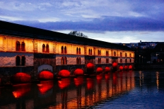 Grande écluse de fortification dite barrage Vauban et ses abords fortifiés - Français:   Barrage Vauban Strasbourg France