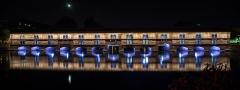Grande écluse de fortification dite barrage Vauban et ses abords fortifiés - English: Vauban Dam in Strasbourg. Night view.