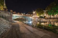 Pont Saint-Thomas - Español: Puente de San Tomás. Estrasburgo. Vista nocturna