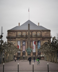 Théâtre municipal, actuellement Opéra du Rhin - English: Opera of Strasbourg front view