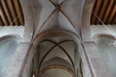 Ancienne collégiale Saint-Arbogast -  Alsace, Bas-Rhin, Surbourg, Abbatiale Saint-Jean-Baptiste (PA00085200, IA00119029): Voûtes du chœur et de la croisée du transept.