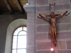 Ancienne collégiale Saint-Arbogast -  Alsace, Bas-Rhin, Surbourg, Abbatiale Saint-Jean-Baptiste (PA00085200, IA00119029): Christ en croix.