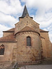 Ancienne collégiale Saint-Arbogast -  Alsace, Bas-Rhin, Surbourg, Abbatiale Saint-Jean-Baptiste (PA00085200, IA00119029): Abside romane du XIIe.