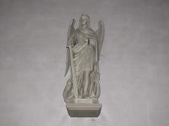 Ancienne collégiale Saint-Arbogast -  Alsace, Bas-Rhin, Surbourg, Abbatiale Saint-Jean-Baptiste (PA00085200, IA00119029): Statue de Saint Michel.