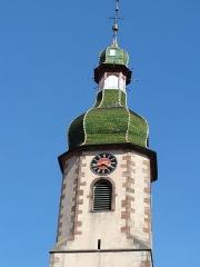 Eglise Saint-Blaise -  Alsace, Bas-Rhin, Valff, Église Saint-Blaise (PA00085206, IA00024037): Clocher à bulbe.