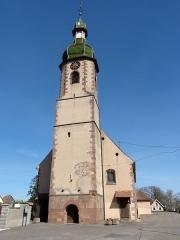 Eglise Saint-Blaise -  Alsace, Bas-Rhin, Valff, Église Saint-Blaise (PA00085206, IA00024037).
