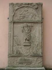 Eglise Saint-Blaise -  Alsace, Bas-Rhin, Valff, Église Saint-Blaise (PA00085206, IA00024037): Monument funéraire non répertorié (1583).