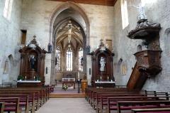Abbaye Saint-Walburge£ -  Alsace, Bas-Rhin, Walbourg, Église abbatiale Sainte-Walburge (PA00085208, IA67008491): Vue intérieure de la nef vers le chœur.