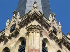 Eglise protestante Saint-Martin -  Alsace, Bas-Rhin, Westhoffen, Église protestante Saint-Martin (PA00085223, IA67006260): Frise lombarde du clocher.