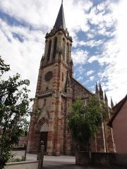 Eglise protestante Saint-Martin -  Alsace, Bas-Rhin, Westhoffen, Église protestante luthérienne Saint-Martin (PA00085223, IA67006260).