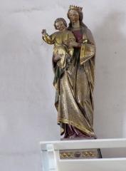 Eglise catholique Saint-Michel -  Alsace, Bas-Rhin, Weyersheim, Église Saint-Michel (PA00085235, IA00119652): Statue Vierge à l'enfant (XIXe?).