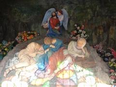 Eglise -  Alsace, Bas-Rhin, Willgottheim, Église Saint-Maurice (PA00085236, IA67001050): Mont des Oliviers dans la chapelle du  cimetière.