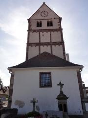 Eglise -  Alsace, Bas-Rhin, Willgottheim, Église Saint-Maurice (PA00085236, IA67001050).
