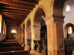 Eglise catholique Saint-Ulrich, ou église d'Altenstadt - Alsace, Bas-Rhin, Wissembourg, Église Saint-Ulrich d'Altenstadt (PA00085244, IA67008249): Bas-côté nord, Piliers carrés.