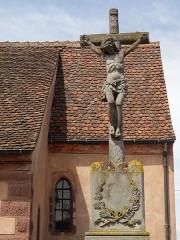 Eglise protestante Saint-Pierre - Français:   Alsace, Bas-Rhin, Wolfisheim, Église protestante Saint-Pierre (PA00085265, IA67008026): Croix de cimetière (1867).