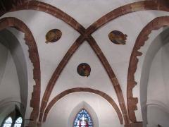Eglise et cimetière de Balbronn -  Alsace, Bas-Rhin, Balbronn, Église protestante (PA00085276, IA67006522): Voûtes du chœur.