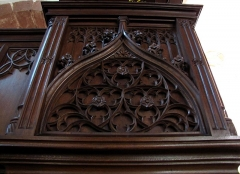 Eglise et cimetière de Balbronn - This object is indexed in the base Palissy, database of the French furniture patrimony of the French ministry of culture,under the referenceIM67010318.