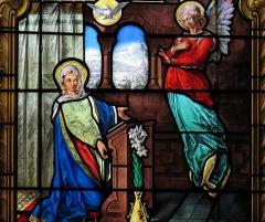 Eglise catholique Sainte-Marguerite - Alsace, Bas-Rhin, Église Sainte-Marguerite de Geispolsheim (PA00085279, IA00023181).  Verrière