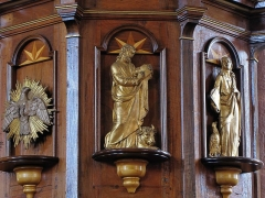 Eglise catholique de l'Assomption de la Bienheureuse Vierge Marie - Alsace, Haut-Rhin, Bergheim, Église Notre-Dame de l'Assomption (XIVe-XVIIIe) (PA00085341, IA68006093.  Chaire à prêcher (XIXe):      This object is inscrit Monument Historique in the base Palissy, database of the French furniture patrimony of the French ministry of culture,under the referencesPM68001292 and IM68009284. беларуская (тарашкевіца)| brezhoneg| català| Deutsch| English| español| suomi| français| magyar| italiano| македонски| Plattdüütsch| português| українська| +/−