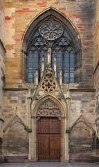 Ancienne collégiale Saint-Martin - Deutsch: Westportal des Martinsmünsters, Colmar, Frankreich
