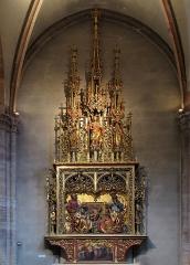Ancienne collégiale Saint-Martin - Français:   Retable de Sainte Parenté de Jésus, XIXe siècle, ancienne collégiale Saint-Martin (XIIIe-XIVe-XVe) (PA00085368) de Colmar (Haut-Rhin, France).
