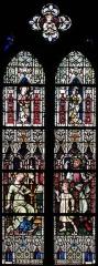 Ancienne collégiale Saint-Martin - Alsace, Haut-Rhin, Ancienne collégiale Saint-Martin (XIIIe-XIVe-XVe) de Colmar  (PA00085368): Bas-côté de la nef, Verrière