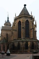 Ancienne collégiale Saint-Martin - Français:   L\'abside de la collégiale Saint-Martin sur la place de la Cathédrale à Colmar (Haut-Rhin, France).