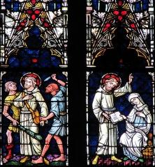 Ancienne collégiale Saint-Martin - Alsace, Haut-Rhin, Ancienne collégiale Saint-Martin (XIIIe-XIVe-XVe) de Colmar  (PA00085368): Transept nord, Verrière