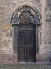 Ancienne collégiale Saint-Martin - Alsace, Haut-Rhin, Ancienne collégiale Saint-Martin (XIIIe-XIVe-XVe) de Colmar  (PA00085368): Portail latéral façade nord.