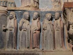 Eglise catholique Saints-Pierre-et-Paul - Français:   Alsace, Haut-Rhin, Église Saints-Pierre-et-Paul (XIIIe-XIXe) d\'Eguisheim (PA00085415,  IA68000505). Tympan \